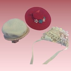 Three Hats for Small Dolls