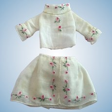 Sweet Embroidery Outfit for Tiny Dolls 5-6 inches