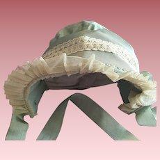 Lovely Bonnet Hat For Bisque Dolls