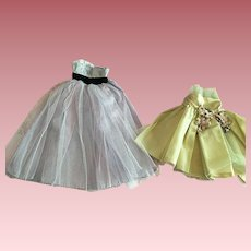 """Two Cocktail Dresses for 15"""" Fashion Dolls 1950s"""