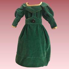 Velvet Doll Dress For Bisque Dolls