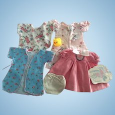 Sweet Layette Clothing for Tiny Tears and Friends 1950s