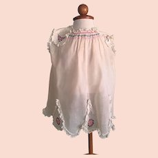 Beautiful Organdy Toddler Dress with Smocking and Embroidery 1920