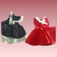 Two Doll Dresses For Hard Plastic Dolls 1950s