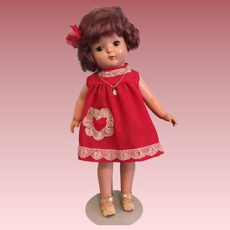 """Effanbee Patricia Wigged Composition Doll 15"""" Patsy Family"""