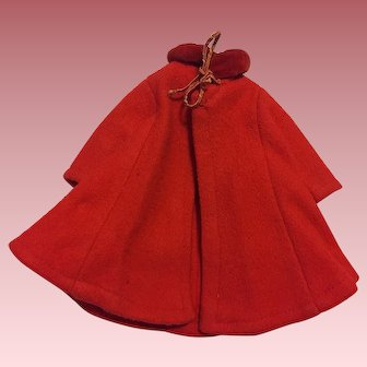 """Original 1950's Ideal Shirley Temple Doll Red Coat Bambury Tagged 12"""""""