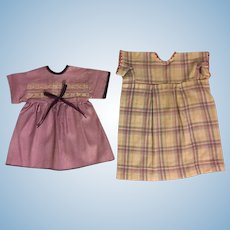 Two Dresses for Composition Dolls 1930s