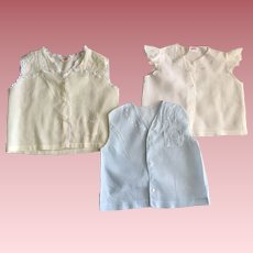 Three Baby Shirts for Large Baby Dolls 1940s