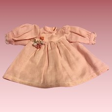 Pink Windowpane Linen Dress and Bonnet for Baby Dresses
