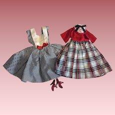 Two Fashion Doll Dresses 1950s