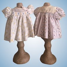 Two Baby Dresses for Tiny Tears and Friends 1950s