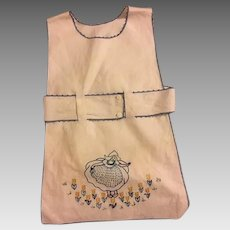 Darling 1920s Embroidered Childs Apron