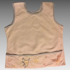 Sweet 1920s Toddler Emroidered Apron