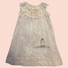 Beautiful Antique Tulle Childs Dress