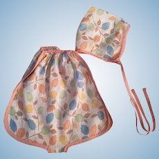Pastel Print Dimity Playsuit and Bonnet for Patsy Ann and Friends
