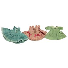 Three Sweet Dresses for Littlest Angel and Friends 1950