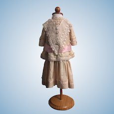 Silk Dress for French or German Bisque Dolls