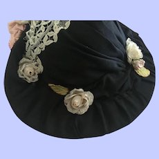 Beautiful Picture Hat for French and German Bisque