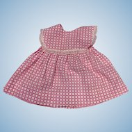 Pink Cotton Dress for Dy-Dee Lou and Friends 1950s