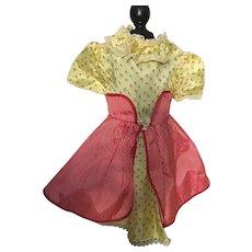 Taffeta Doll Dress for Large Hard Plastic Dolls 1950s