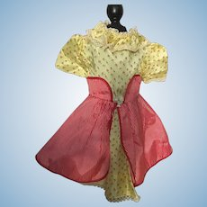 Taffeta Doll Dress for Large Hard Plastic Dolls 1950s