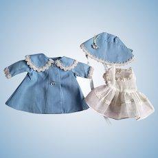 Arranbee Littlest Angel Dress, Coat, and Bonnet 1950s