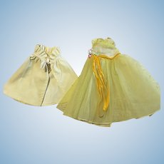 Tulle and Taffeta Ballgown and Shawl for Terri Lee 1950s