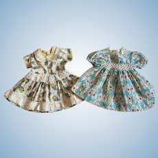 Two Vintage 1940s Doll Dresses for Hard Plastic and. Composition