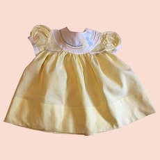 Vintage Sunny Yellow Baby Dress 1940