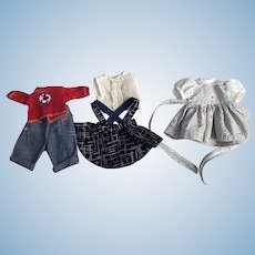 Three Outfits for Arranbee Littlest Angel 1950s