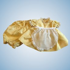 Three Piece Taffeta Apron Dress for Chubby Toddlers 1940