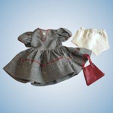 Dress, purse, underwear for Hard Plastic Dolls 1950s