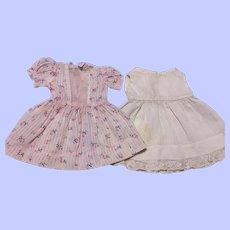 Pink Rosebud Floral Dress and Slip 1950s