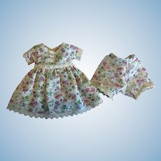 Batiste Dress and Underwear for Composition Dolls