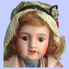 French All Original Cabinet-sized souvenir doll 1940s Excellent