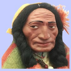 Expressive Large Slookums Chief Doll Excellent