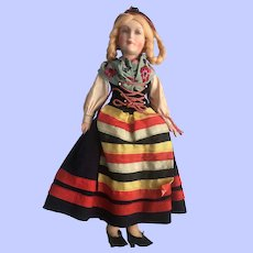 Beautiful German Petite Boudoir Doll Excellent
