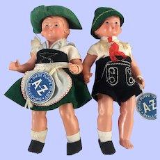 Vintage Celluloid GeRman  BEKLEIDUNG Dolls