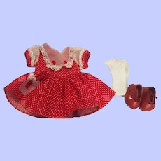 Arranbee Littlest Angel Dress and Shoes 1950s