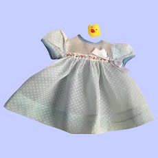 Sweet Dimity and Organdy Dress for Dy-Dee Baby 1950e