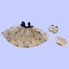 Vogue Ginny Organdy Dress, Shoes, Socks 1956