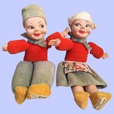 Norah Wellings Pair of Dolls