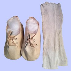 I take Oilcloth Doll Shoes and Socks for Large Dolls