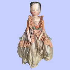 Fabulous Antique Grodnertal Primitive Doll Late Nineteenth Century