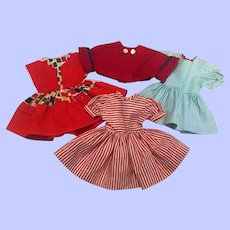 Three Dresses for 14-15 inch dolls such as Ideal Toni 1950s