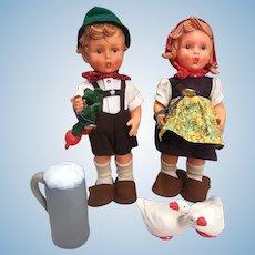 Two Vinyl Hummel Dolls 1960s