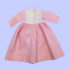 Pink and White Antique Doll Dress 1900