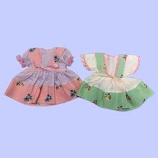 Two Sweet Companion Dresses for Hard Plastic Dolls 1950s