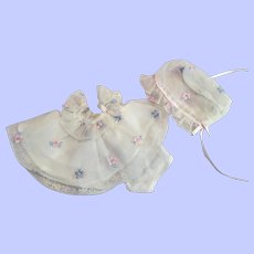 Two Piece Embroidered Nylon Dress and Bonnet for Littlest Angel and Friends