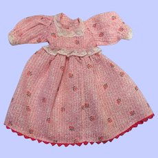 Pink Dimity Doll Dress for Bisque or Composition
